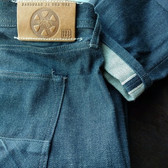 valtava alennus katsella lenkkarit UBi-IND Selvedge Denim jeans USA SF CA 34x34 EUC